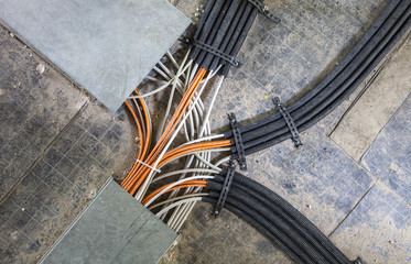 Rechenzentrum Verkabelung Kabel
