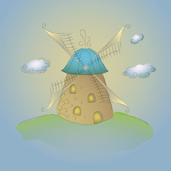 Hand-drawn windmill