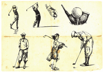 collection of hand-drawn Golf