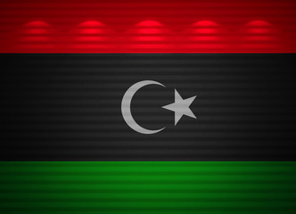 Libyan flag wall, abstract background
