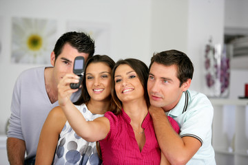 Friends taking a picture of themselves