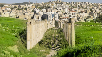 Ruins of the Greco-Roman city of Jerash, Jordan.