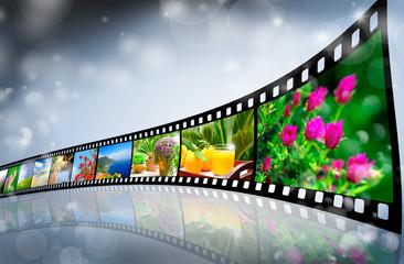 Filmstreifen mit Urlaubsbildern