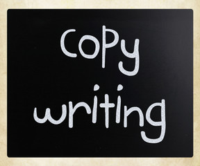 """Copywriting"" handwritten with white chalk on a blackboard"
