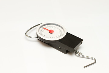 luggage scales isolated
