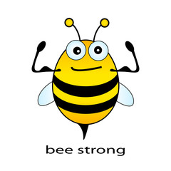 Bee strong vector illustration