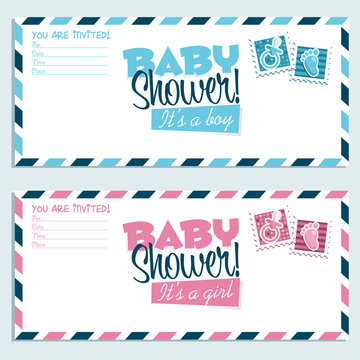 Baby Shower Invitation Envelopes