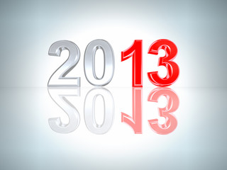 New Year 2013 background. With clipping path