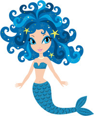 Photo sur Plexiglas Mermaid Mermaid cartoon