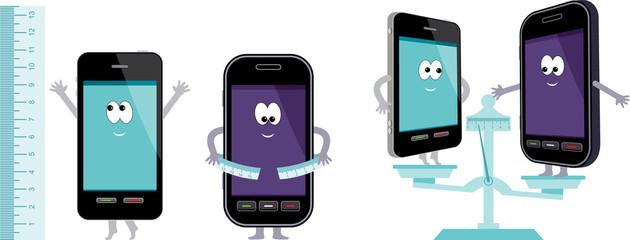 Comparative characteristics of phones.
