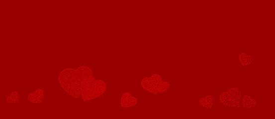 Hintergrund rot mit Herzen