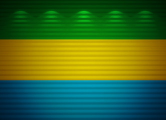 Gabonese flag wall, abstract background