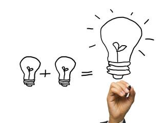 Writing light bulb