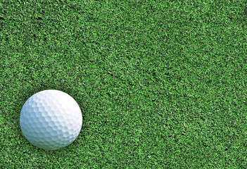 golf ball on the green grass