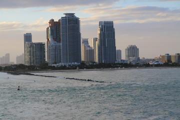 Skyline Miami - Sonnenuntergang