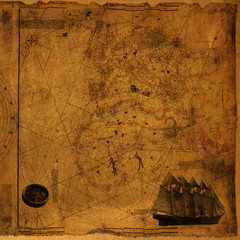 Vintage Map With Compass and Ship