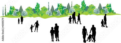 Wall mural ENFANTS ET PARENTS