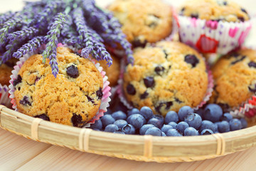 mascarpone and blueberry muffins
