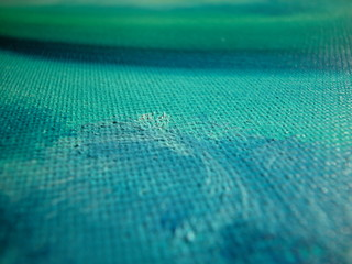 Blue and green oil on canvas texture background
