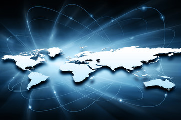Wall Mural - Best Internet Concept of global business from concepts series