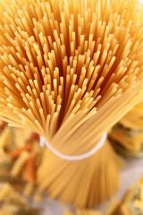 close up on spaghetti