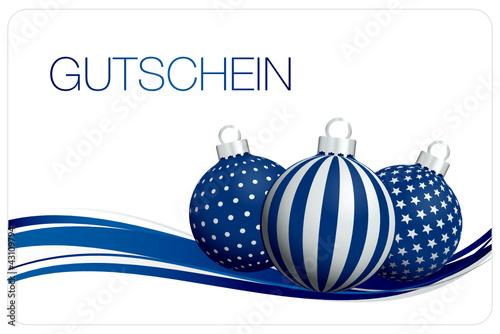 Gutschein christbaumkugeln blau silber stockfotos und for Christbaumkugeln blau