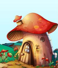 Photo sur Plexiglas Monde magique mushroom house