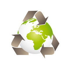 Green planet, pianeta terra, planète terre, recycling