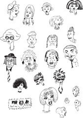 cartoon faces