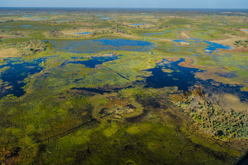 The Okavango Delta from the air