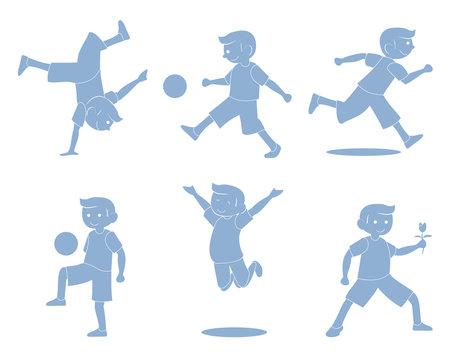 Boys Activity silhouette
