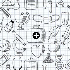 Medicine. Seamless texture