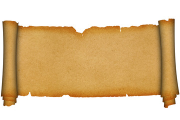 Scroll of old parchment.