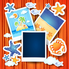 Holiday memories with photo frame