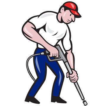 Power Washing Pressure Water Blaster Worker