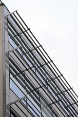 façade verre et métal