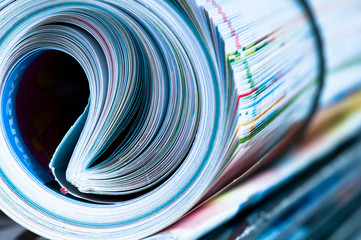 Magazine Roll. Side view.