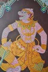 Art painting in Wat Phra Kaew (Public domain)