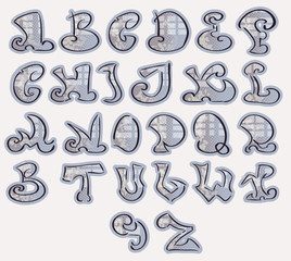 Halfton Alphabet