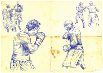 (vintage picture) boxing match