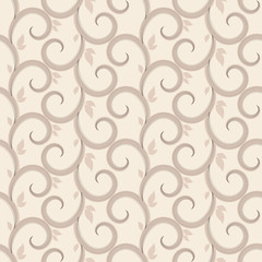 Vector seamless pattern with swirls