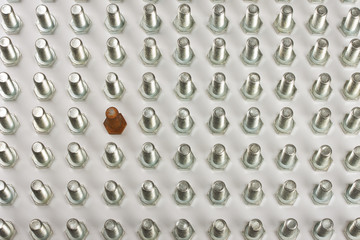Grid Of Bolts