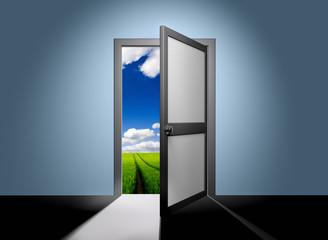 Freedom of the door, open it