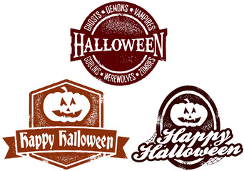 Happy Halloween Stamps