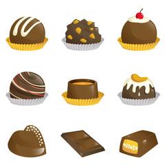 Chocolates icons