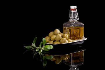 Luxurious olive oil background.