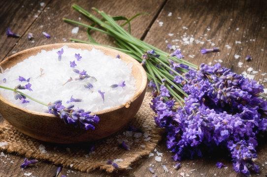 Sea salt and fresh lavender