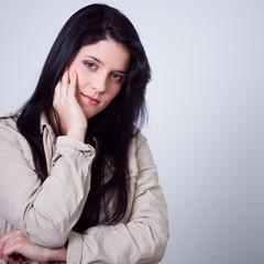 young black hair beauty woman portrait - studio shot
