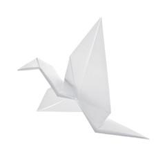 Bird from paper. Origami. Crane