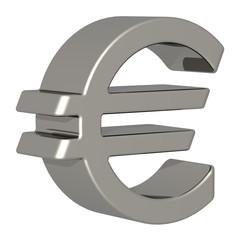 Eurozeichen silber 3D